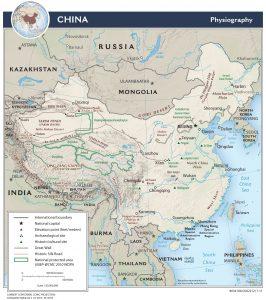 China - geografische Wahrzeichen und Landmarken