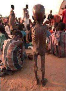 Hungerndes Kind im Sudan (Bildquelle: imaging-famine.org)