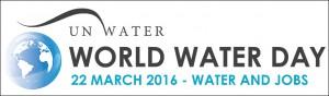 """Weltwassertag 2016 - Logo und Motto """"Wasser und Arbeitsplätze"""""""